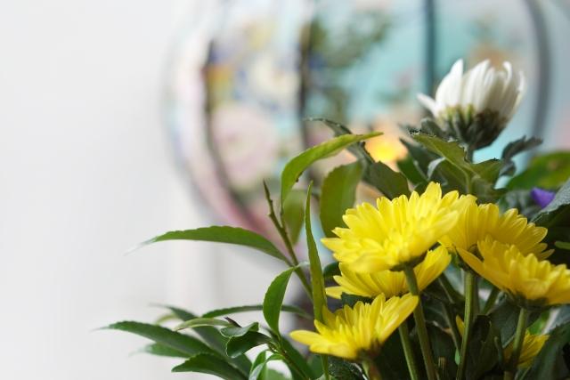 しめやかな直葬の花
